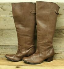 WOMENS MATISSE BROWN LEATHER PULL ON RIDING style tall BOOTS SZ 8