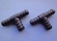 2x Schlauchverbinder RGV 25 mm 25 mm  gerade schwarz 205A