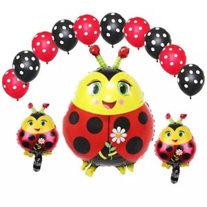 Ladybug Balloon 13pcs Foil/Latex Balloons🐞