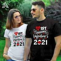 LOCKDOWN  VALENTINES DAY T SHIRT TSHIRT 2021 COUPLE GIFT T SHIRTS (146)