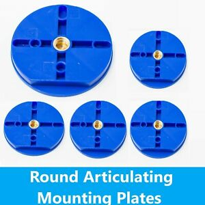 Dental Lab Plastic Disposable Round Articulating Mounting Plates Blue- Bag of 20