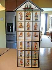 Lot of 18 Goebel Berta Hummel Christmas Ornaments in Ashton Drake Display House