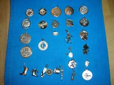 Mixed Lot 28 Sterling Silver Charms Engravable Sports Wedding Music Child Other