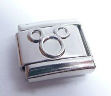 MICKEY MOUSE EARS Italian Charm Silver Shiny fits 9mm classic Starter Bracelets