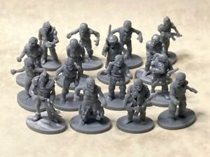 Post-apocalyptic zombies in 20mm scale for Gaslands, Dark Future, Car Wars
