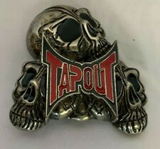 RED  - TAPOUT BELT BUCKLE - 3 Skulls