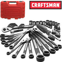 New Craftsman 56 PC Universal Mechanics Tool Set Socket Wrench Set with Case MTS