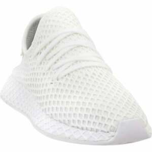 adidas Deerupt Runner Lace Up    Kids Boys  Sneakers Shoes Casual   - White -