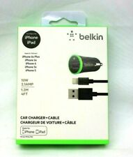 Belkin Car Charger + Cable for iPhone and iPad