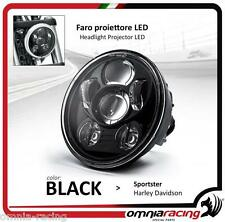 "Faro LED Nero Omologato 5.75"" Harley Sportster 883/1200 - Headlight Front LED"