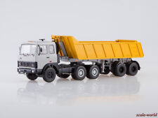 Scale model truck 1/43 MAZ-6422 (early) with tipping semitrailer MAZ-9506-20
