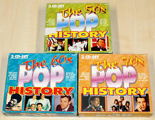 9 CD POP HISTORY WAY BACK TO 50S 60S 70S OLDIES THE EQUALS DRIFTERS PERCY SLEDGE
