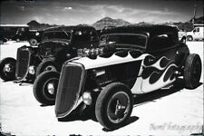 12x18 in. Vintage Poster Bonneville Salt Flats Ford Coupe Garage Art Man Cave