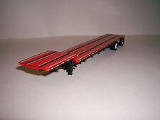 DCP 1/64 53' BLACK FRAMED RED DECKED TRANSCRAFT EAGLE DROP DECK TRAILER