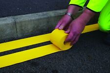 Yellow Preformed Thermoplastic Flexiline Road Lines 100mm x 5m Roll