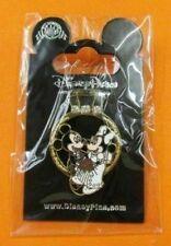 Disney Pin Diamond Wedding Ring Groom Mickey Bride Minnie Mouse 3D