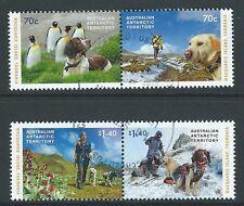AUSTRALIA Antártida Territory 2015 Perros MATASELLADO Conjunto de 4 in DOS PARES
