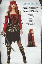 Women's Adult Pirate Beauty Costume Size Medium (8-10) - New & Unused!