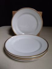 Heinrich Princess Selb Bavaria Germany White Gold Band 4 Bread & Butter Plates C