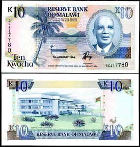 MALAWI 10 KWACHA 1994 P 25 UNC