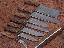 CUSTOM MADE DAMASCUS BLADE 7 Pc's. KITCHEN KNIVES SET. (ZE-0107-C)