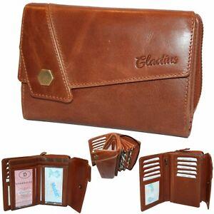 Gladius Geldbörse Damen Geldbeutel Leder ✹ Braun Handarbeit Top Modell