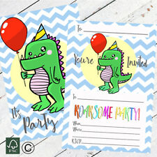 Dinosaur Party Invitations Decorations Party Supplies Childrens Kids 10 Pack