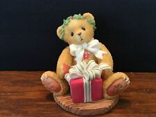 1998 Cherished Teddies Figurine Margy Wrapping Up a Little Holiday Joy #475602