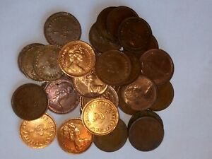 Bulk lot of 35 GB 1/2p coins, various dates from 1971 to 1982. Very Collectable!