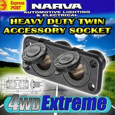 NARVA DUAL HEAVY DUTY TWIN CIGARETTE LIGHTER SOCKET 12V ADAPTER CARAVAN 81027BL