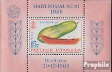 Indonesia Vak 13 (volledige uitgave) postfris MNH 1968 Vruchten