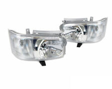 For Toyota Hiace 200 Van 2005~2010 Crystal Lens Projector Headlights Lamp 2PCSa