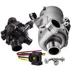 Electric Water Pump + Thermostat Kit For BMW 328i 528i 530xi 525xi X3 X5 w/ Bolt