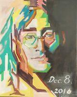 """Unique painting, POP ART, John Lennon Portrait, signed, Licholi 30"""" x 24"""""""