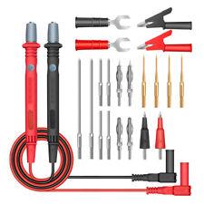 20a Probe Test Lead Kit Alligator Clip Fluke Clamp Multimeter Meter Cable Us