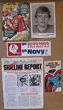New England Patriots Memorabilia (5 Items) 1984 Newsletter, 1978 Booklet, etc.
