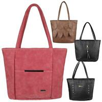 Women Suede Leather Handbag Large Shoulder Bag Fashion Office Work Shopper Tote