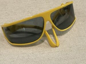 Vintage I Ski Wrap Sunglasses Yellow Frame  Made in Japan Excellent NR