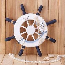 "Nautical Wooden Ship Steering Wheel Home Decor/ Wall Art 13""Diameter"