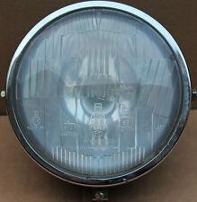 Used Side Mount Head Light 4 Prong Black Base Plate Chopper Custom (U-1172)