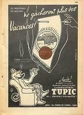 INSECTICIDE TUPIC / ETS AMAC PARIS / LE DIABLE DE JEAN EFFEL / PUBLICITE 1952