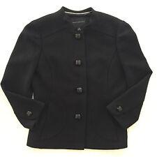 BANANA REPUBLIC Black 100% Wool Button Blazer Knit Career Jacket Lined Sz 2 $145