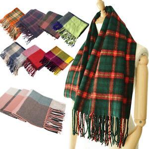 Blanket Scarf Women Fashion Plaid Soft Warm Tassels Wrap Shawl for Autumn Winter