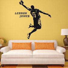 Basketball Star Lebron James Wall Decal Art Sticker Kids Bedroom Decor Fan Gift