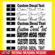 CUSTOM TEXT Personalised Name Lettering Funny Car/Van/Window Decal Sticker ps1