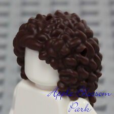 NEW Lego Girl Minifig Long Curly Dark BROWN HAIR - Friends Short Curls Head Gear