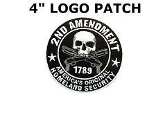 "2nd AMENDMENT Americas Homeland Security Embroidered 4"" Patch Biker Gun Tactical"
