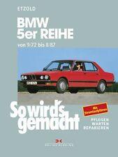 WERKSTATTHANDBUCH WARTUNG SO WIRD´S WIRDS GEMACHT 68 BMW 5er REIHE E12 E28