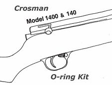 Crosman 140 1400 Air Rifle O-ring Seal Kit