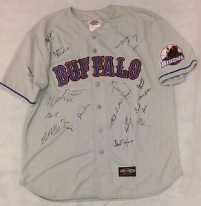 Jersey Express Buffalo Bisons Blank Team Signed Grey Jersey Sz XL